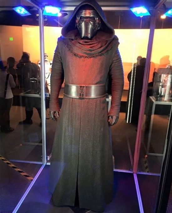 New  Star Wars The Force Awakens Kylo Ren Cosplay Costume Adult Black Jedi Robe Including Belt Coat Gloves Pants Shirt Scarf