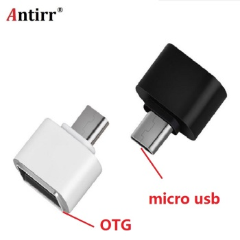 Micro USB to US 2.0 OTG Expansion Adapter Metal Housing For Cell Phone V8 Interface For Most 5-pin Micro USB Smart Phone image