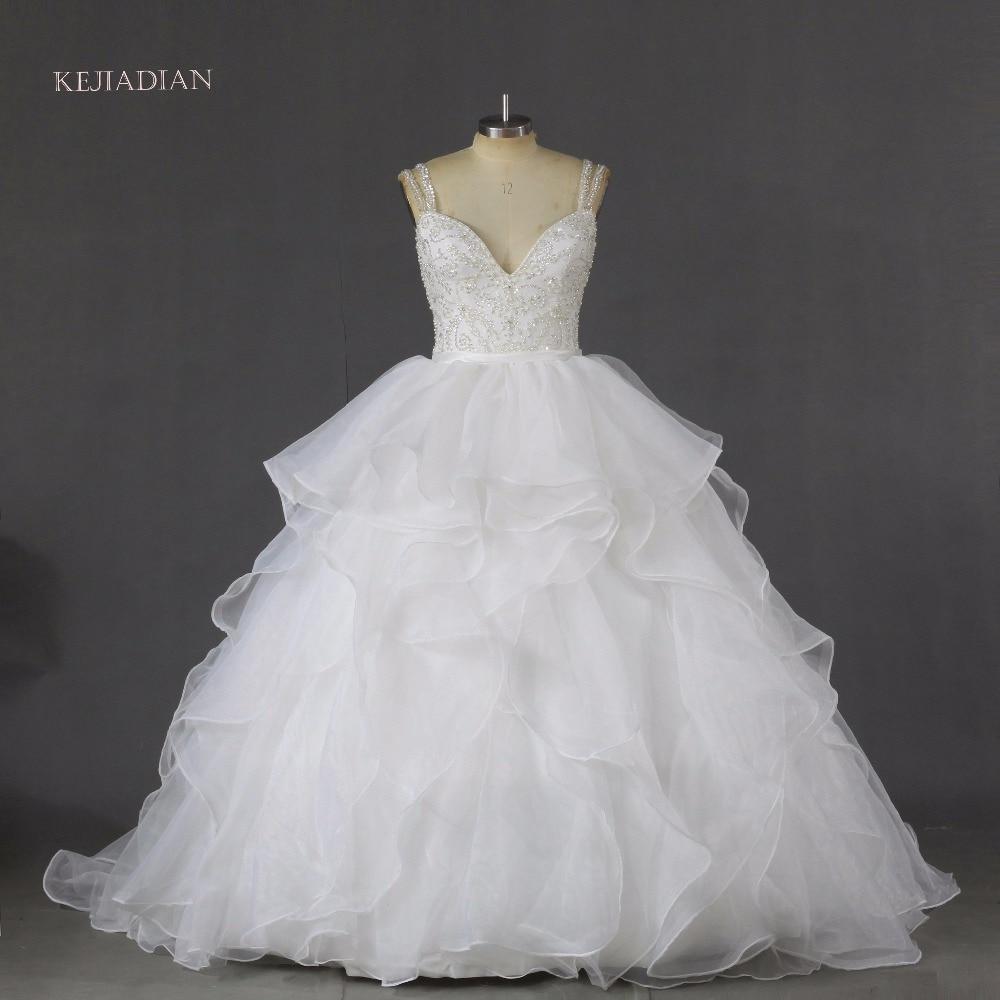 luxury ball gown crystal wedding Dresses 2019 Top Beading Open Back Sexy Islamic Dubai Saudi Arabic