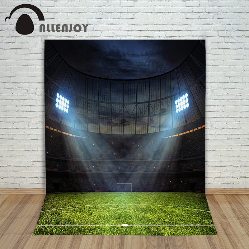 Football Stadium Night Lights: Photo Background Photography Backdrop Night Football