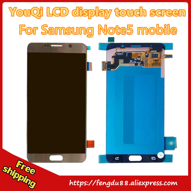 5 pcs 100% Test Good Working Original For Samsung Galaxy Note5 N920a N920t N920p Lcd Display Touch Screen Digitizer Freeshipping