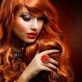 """Sleek 8A Brazilian Deep Curly Virgin Hair, Brazilian Hair Weave Bundles,  12"""" 350# Red Brazilian Deep Wave Maxglam Hair ON SALE"""