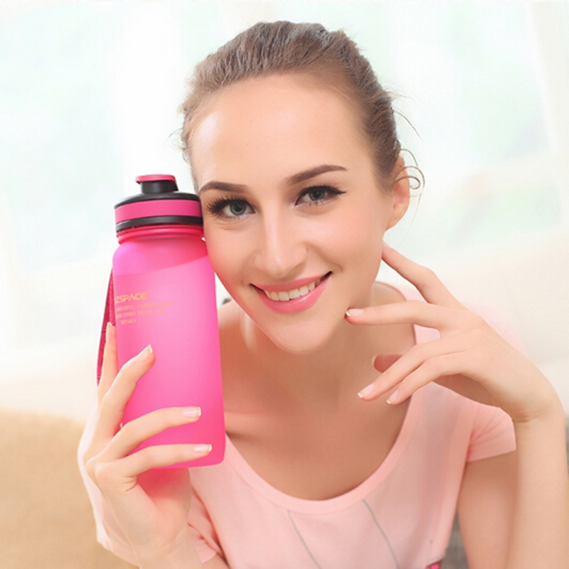 Sports Water Bottles 1000ml Scrub Fashion Portable Space Resistant Nutrition Shaker Drink My Water Bottles