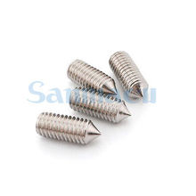 50pcs M6 Hex Socket Set Cone Point Screw 304 Stainless Steel Grub Screw