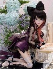 цена на AQK(AQK)  1/4 bjd/ Doll Celine Girl High Quality Toy Resin Doll Free eyes