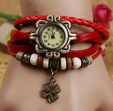 good quality fashion vintage quartz watch women genuine cow leather wristwatch 28L16