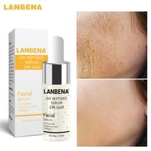 лучшая цена LANBENA Pure 24K Gold  Essence Hyaluronic Acid Whitening Moisturizing Anti Aging Day Cream Anti Wrinkle Face Care Collagen