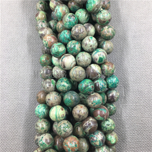 MY1264 Green Sea Sediment Jaspers Smooth Round Punch Bead,Ocean beads for Bracelet Necklace Jewelry