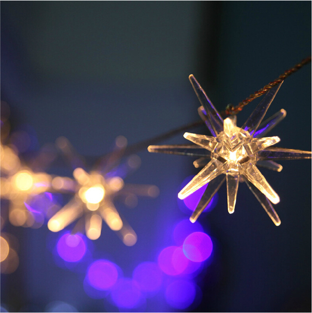 3 3m Battery Ed Stars Explosion Ball 20 Led Fairy String Lights Christmas Garden Home Party Decoration