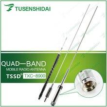 Antena móvil de acero inoxidable para coche, alta calidad, Quad Band, 29/50/144/430