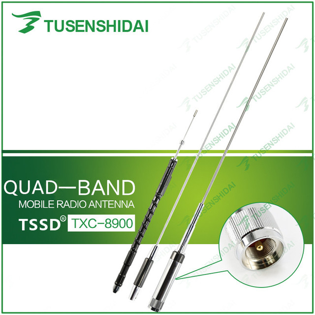 Brand New High Quality Quad Band 29/50/144/430 Stainless Steel Mobile Vehicle Car Antenna