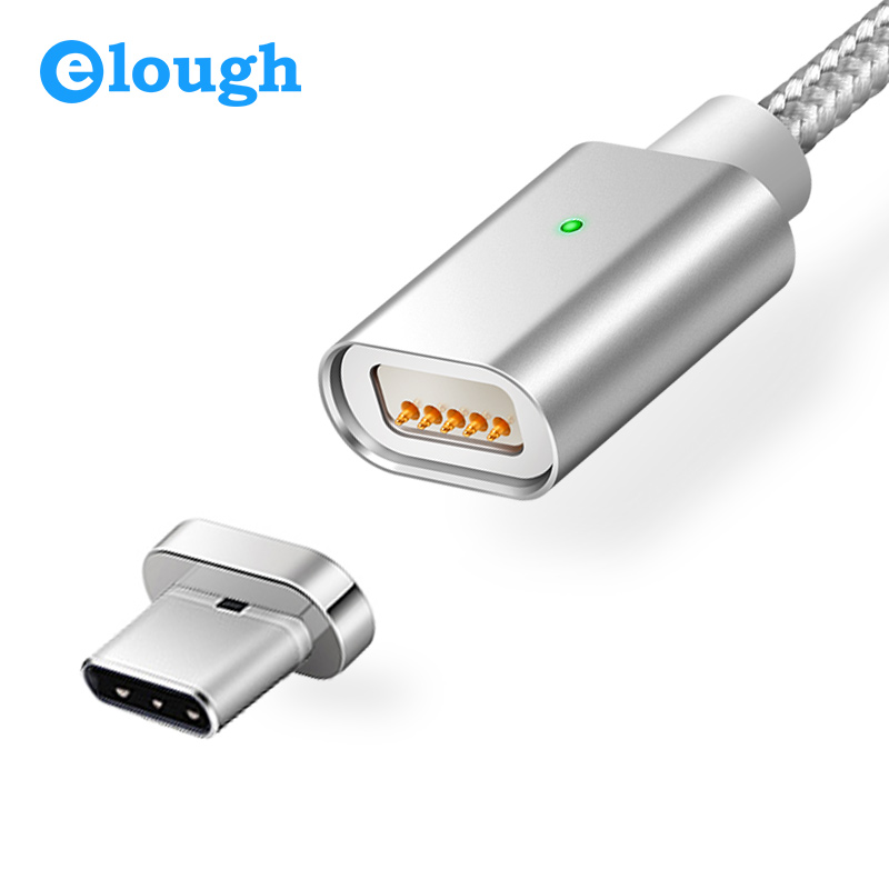 Elough E04 USB Type C Magnetic Charger Cable For Huawei P9 Honor 8 Oneplus 3t Mobile Phone Fast Charge Magnet Type-c Data Cable