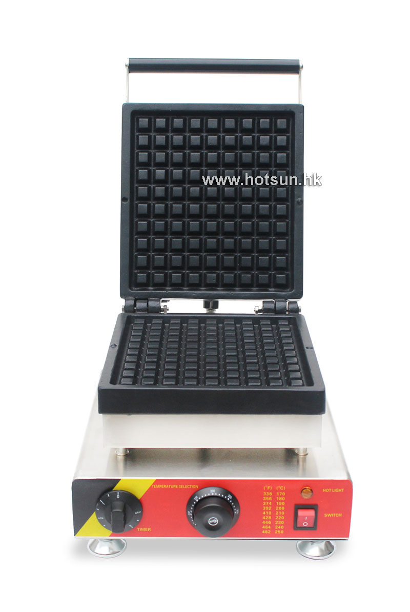 Commercial Non-stick 110V 220V Electric 1 Slice Belgium Liege Waffle Maker Iron Machine free shipping commercial use non stick 110v 220v electric 8pcs square belgian belgium waffle maker iron machine baker