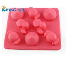 Cherry Candy Shape Ice Tray Mold Ice Cube Chocolate Molds Silicone Cake Stencil DIY Baking Tools