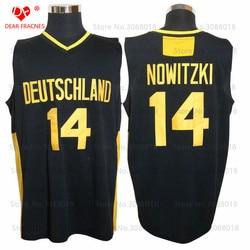 2017 Deutschland Teams Trikots #14 Dirk Nowitzki Jersey Throwback College Basketball Jersey Vintage Retro For Mens Shirts Sewn
