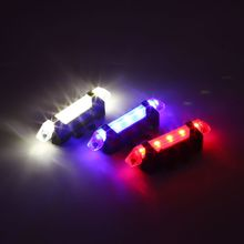 цена на Outdoor Bike Bicycle light LED Tail Light Cycling Rear Tail Safety Warning Light USB Rechargeable Mountain Bike Cycling Light
