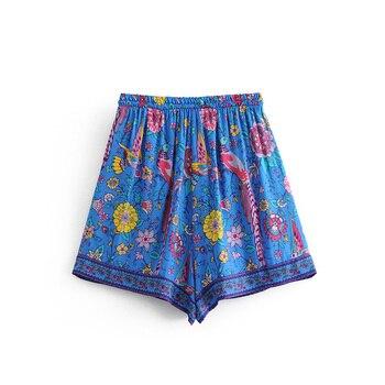 Casual Bohemian Peacock Shorts 1