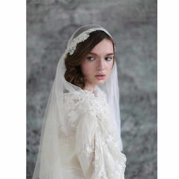 Juliet cap Wedding Veils Bridal Veils 2 Layers  Vintage Appliques Ivory White Veil for Bride velos de novia 2019 Voiles Mariage - DISCOUNT ITEM  0% OFF All Category