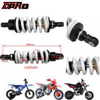 TDPRO New 290mm 1200lbs Motorcycle Suspension Rear Spring Shock Absorber For Dirt Pit Bike ATV SSR Apollo KTM SDG Quad Scooter