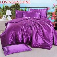 Lovinsunshine consolador conjuntos de cama luxo capa e colchas cetim lençóis ab07 #