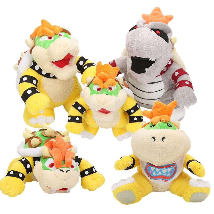 Us 7 01 18 Off 17 24cm Cartoon Game Super Mario Bros Plush Toys Sanei Bowser Plush Stuffed Animals Dragon Plush Toy Kids Gift In Movies Tv From