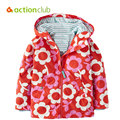 Actionclub 2016 New Baby Girls Outerwear Spring Autumn Girls Jacket Flower Print Infant Overcoat Kids Children Coat Clothes