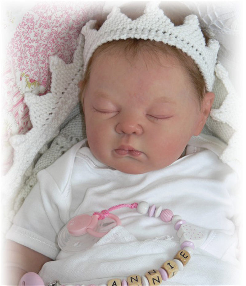 Unpainted Blank Reborn Doll Kit Soft Full Body Silicone Doll Limbs and Body 23/""