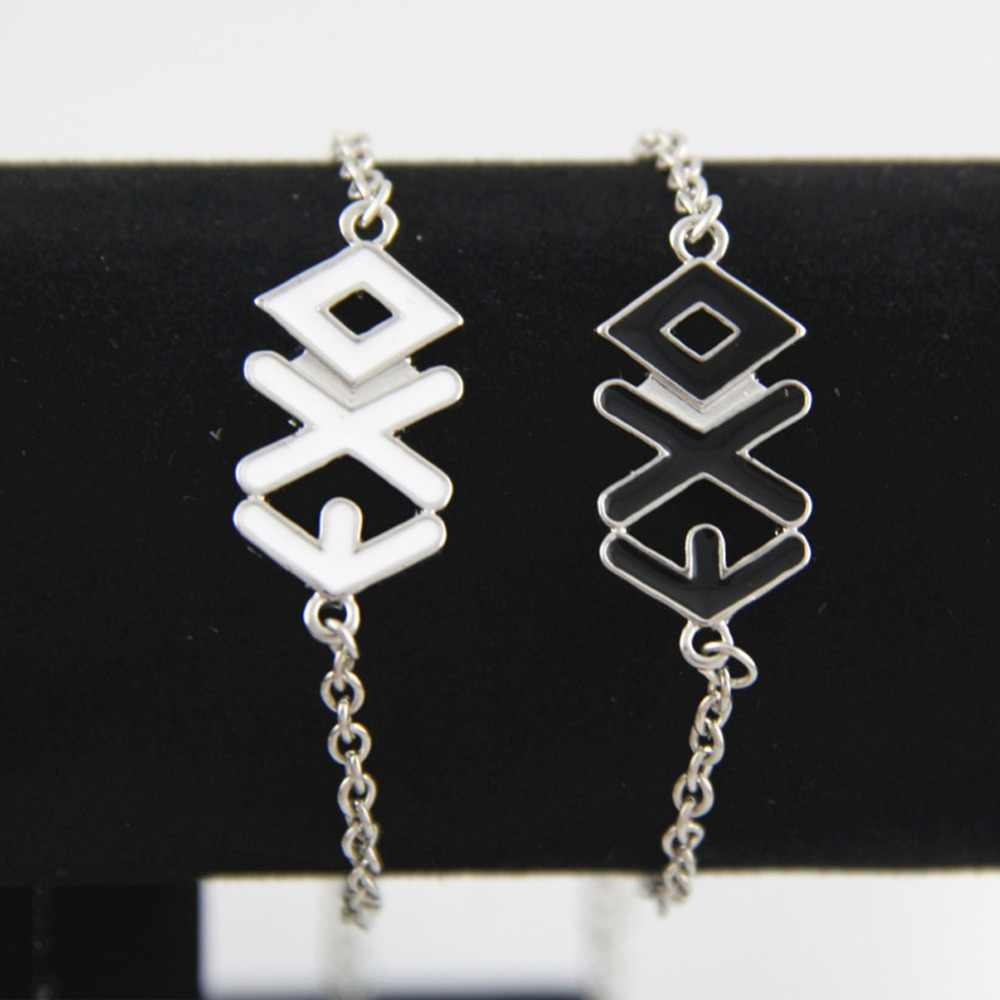 Hot Selling EXO chain Bracelet Cuff Bangles Lovers Bracelets 2 Colors Black White Charming Jewelery Accessories #288499