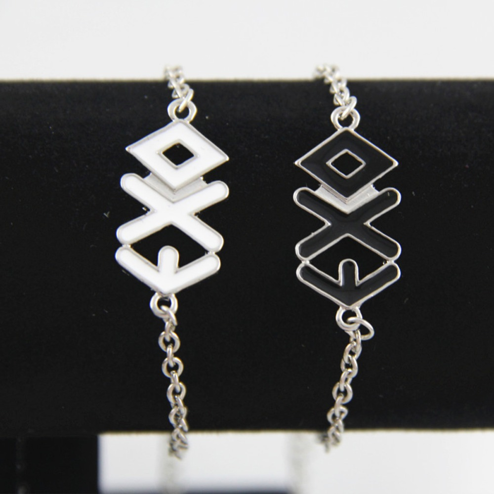 Popular Brand Hot Selling Exo Rope Cuff Bangles Lovers Bracelets 2 Colors Black White Charming Jewelery Accessories Bracelets & Bangles Charm Bracelets