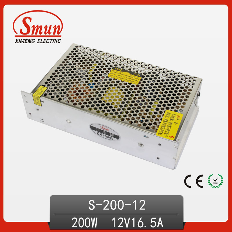 200W 12V 16.5A Single Output AC/DC Switching Mode Power Supply S-200-12 image