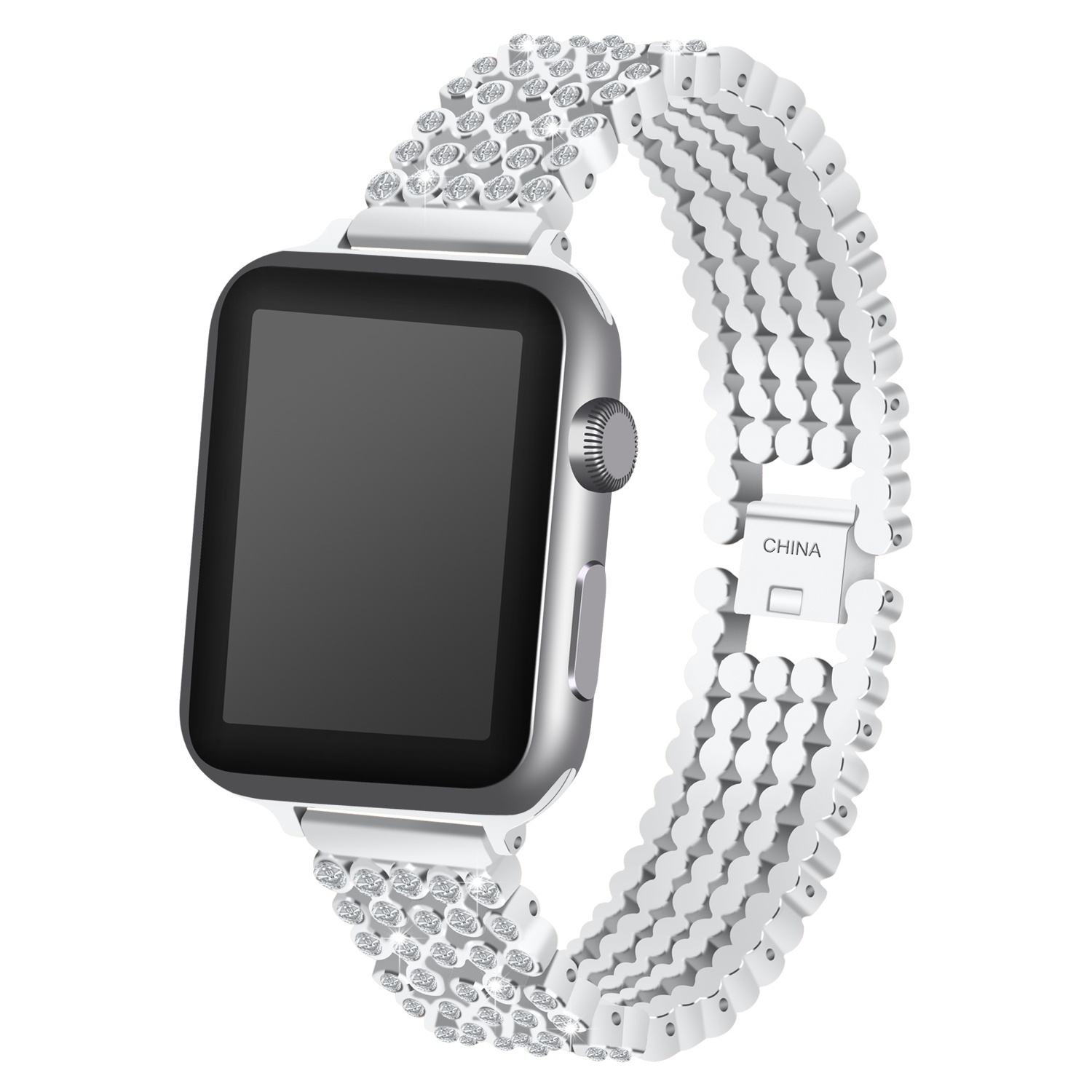Image 3 - Crystal Diamond strap for Apple Watch band 38mm 42mm 40mm 44mm stainless steel Replacement Bands for iWatch series 5 4 3 2 1strap for apple watchreplacement strapstrap for -