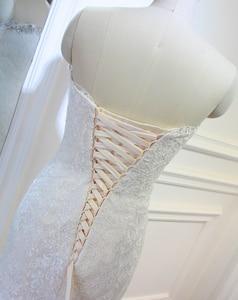 Image 5 - 高品質新しいファッションレースマーメイドシャンパンとアイボリーウェディングドレスオフショルダー花嫁衣装カスタムサイズ