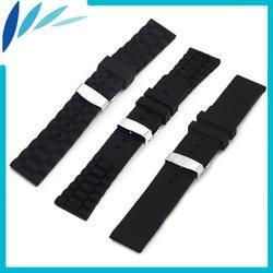 Силиконовый резиновый ремешок для часов 20 мм 22 мм для часов Rolex скрытая застежка на запястье петля ремень браслет черный + Весна Бар +