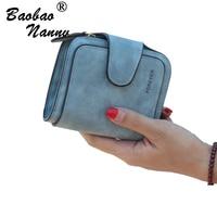 Lady Snap Fastener Zipper Short Clutch Wallets Solid Letter Portable Small Female Vintage Purse Matte Fashion