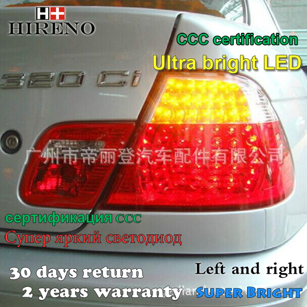 Hireno Tail Lamp for BMW E46 318i 320i 323i 325i 1998-2002 LED Taillight Rear Lamp Parking Brake Turn Signal Lights спойлер bmw e90 318i 320i 325i 330i m3