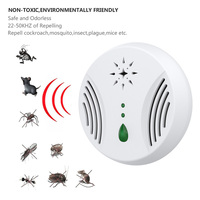 Ultrasonic Electronic Mosquito Mouse Killer Pest Reject  Round Shape Repeller Pest Control Mosquito Repellent Cockroach Insect|Repellents|   -