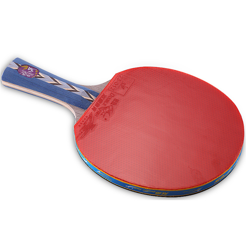 Double fish advance 5A C table tennis finished rackets paddle 5 Ply pure wood racquet fast attack with loop ITTF approved rubber in Table Tennis Rackets from Sports Entertainment