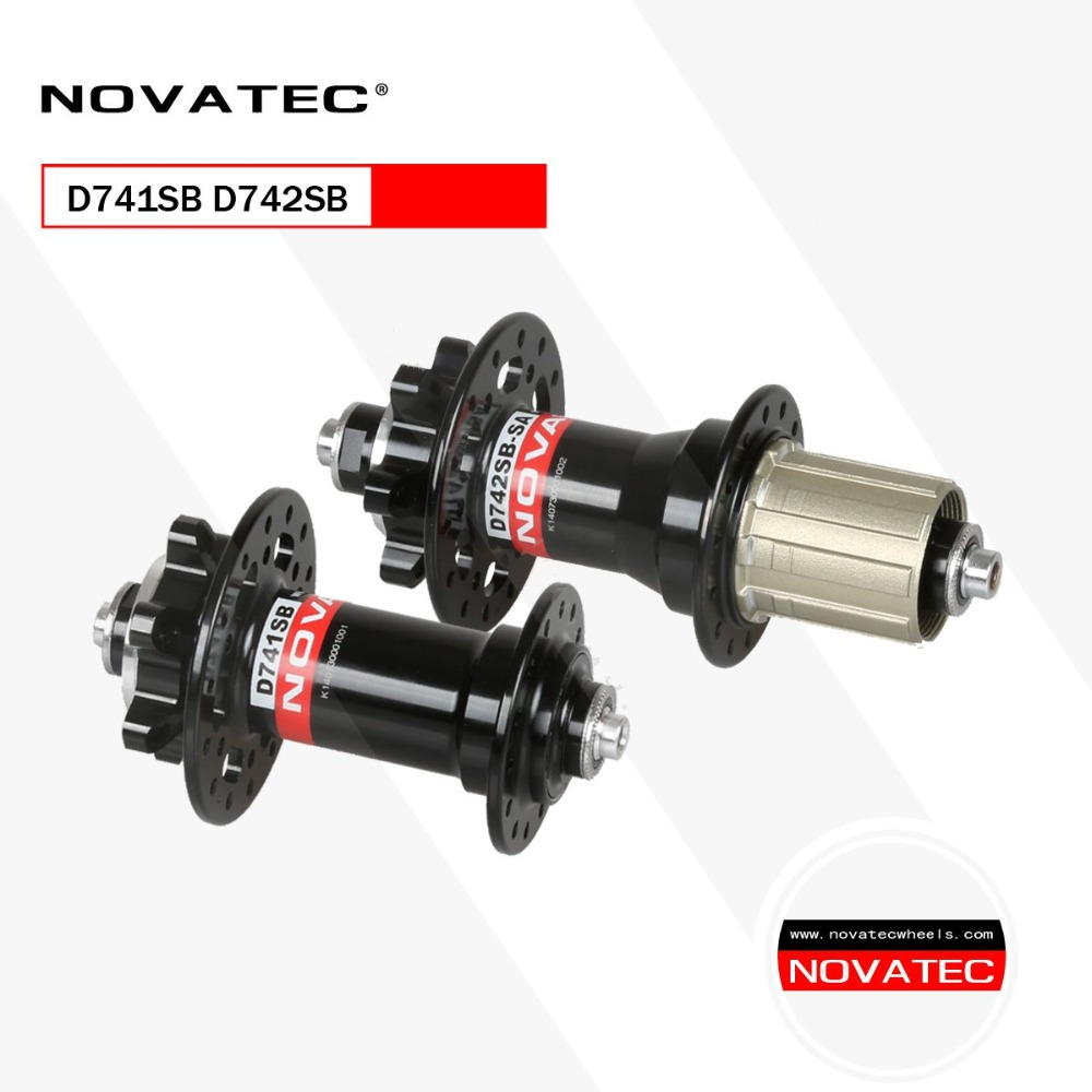 Novatec D741SB D742SB MTB Mountain Bike <font><b>Hub</b></font> 4 Sealed Bearing Disc Brake <font><b>Bicycle</b></font> <font><b>Hubs</b></font> 24 <font><b>28</b></font> 32 <font><b>Holes</b></font> with QR image