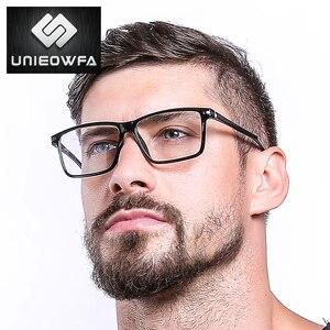 Image 4 - Siyah TR90 bilgisayar gözlük çerçevesi erkekler optik miyopi gözlük Anti mavi ışık engelleme gözlük gözlük reçete gözlük