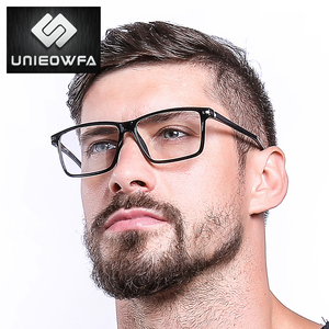 Image 4 - 黒TR90 コンピュータ男性光学近視眼鏡抗ブルー遮光メガネ処方眼鏡
