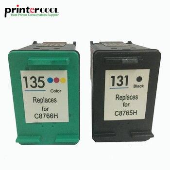 einkshop 131 135 Refilled Ink Cartridge Replacement for hp Deskjet 460 5743 5940 5943 6843 2573 PSC1600 2350 Printer
