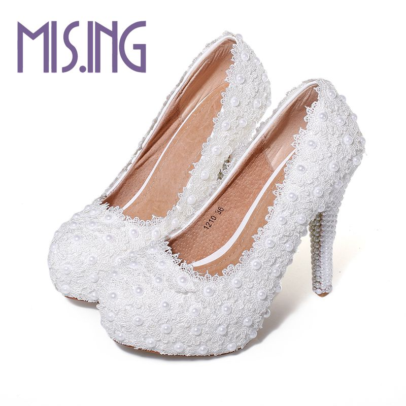 New fashion women wedding shoes high heels Mary Janes Beading Slip-On pumps Round Toe Party Spring/Autumn Pigskin Elegant pumps funky fish ут 00005839