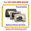 """7 """"Специальный Автомобиль Подушка Подголовник Монитор для VW AUDI BMW BUICK с Сенсорной Кнопки, дополнительные функции GAME-бесплатная доставка"""