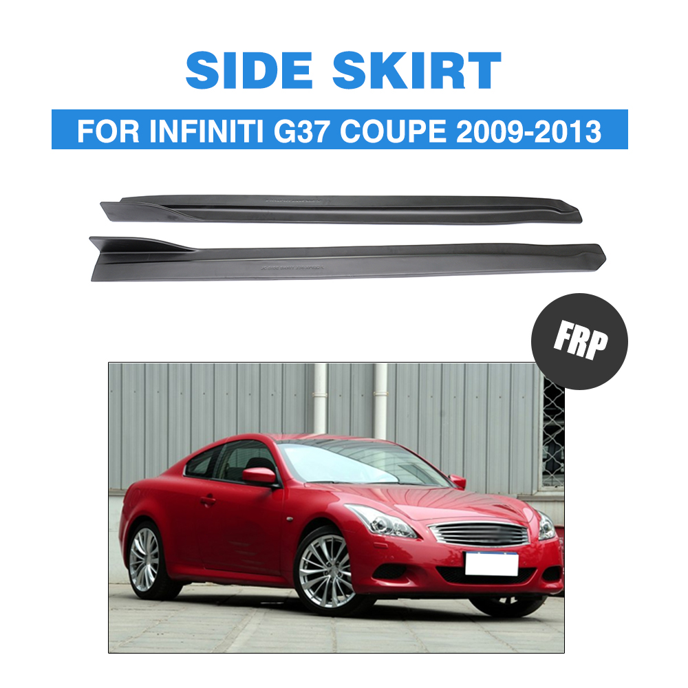 G37 JC styling FRP car side body skirt for infiniti,auto side skirt kit for fit G37 base sedan journey sedan 2009-2013