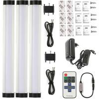 3pcs/set smd 2835 IR remote control Dimming Under Cabinet Light Kitchen Light LED bar light 3*0.3m*33LEDs Hard Rigid Bar