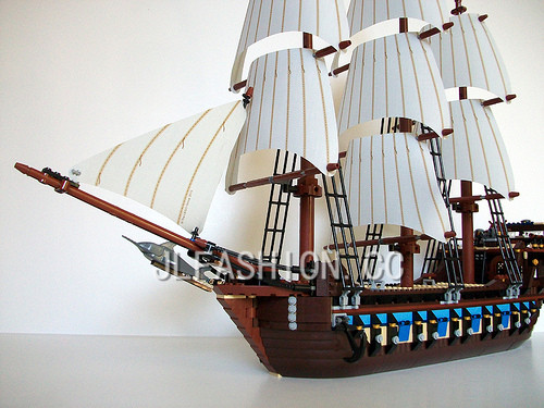 NEW bricks 22001 Pirate Ship Imperial warships Model Building Kits Block Briks Toys Gift 1717pcs Compatible 10210 susengo pirate model toy pirate ship 857pcs building block large vessels figures kids children gift compatible with lepin