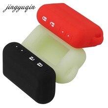 Jingyuqin 10 sztuk/partia futerał silikonowy do Starline E60 E90 E61 dwukierunkowy samochód zdalnego 2-Way LCD brelok do kluczy fob pokrywa