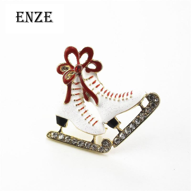 2016 Freies Verschiffen Schöne Weiße Schuhe Beliebte Mode-accessoires Halbedelsteine Brosche Sets