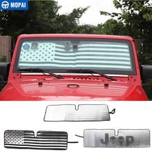 MOPAI Sun Visor for Jeep Wrangler JK Car Front Anti UV Window Windshield Sunshade Cover for Jeep Wrangler JK 2007+ Accessories цена