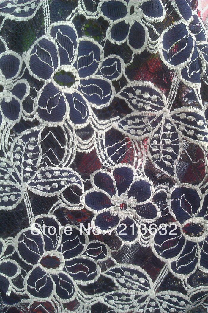 √Envío libre sueño elástica de alta calidad telas de encaje azul ...